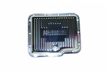 Specialty Chrome - SPECIALTY CHROME Stock Depth Transmission Pan Finned Steel Chrome - Powerglide