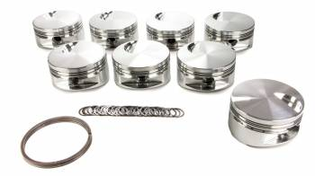 "JE Pistons - JE Pistons Big Block Flat Top Piston Forged 4.530"" Bore 1/16 x 1/16 x 3/16"" Ring Grooves - Minus 3.0 cc - Big Block Chevy - Set of 8"