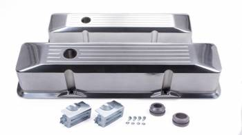 Racing Power - Racing Power Recessed Valve Covers Tall Baffled Breather Holes - Hardware - Ball Milled
