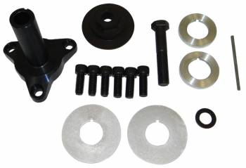"""Moroso Performance Products - Moroso Performance Products 3"""" Long Mandrel Crank Mandrel Drive Kit Guides/Hardware/Spacers Aluminum Black Anodize - GM LS-Series"""