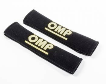 "OMP Racing - OMP Racing Velcro Closure Harness Pad Black Velour 2"" Belts - Pair"