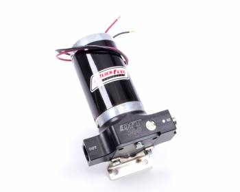 Quick Fuel Technology - Quick Fuel Technology QFT300 Electric Fuel Pump Inline 300 gph at 20 psi 10 AN Female O-Ring Inlet/Outlet - Black Anodize