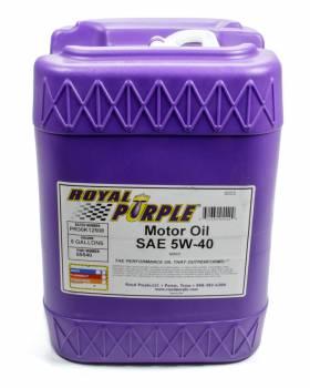 Royal Purple - Royal Purple 5W40 Motor Oil Synthetic - 5 gal