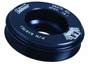 "Fluidampr - Fluidampr 6.125"" OD Harmonic Balancer Steel Black Internal Balance - Mitsubishi 4-Cylinder"