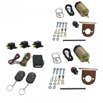 AutoLoc - AutoLoc 2 Doors Shaved Door Handle Kit 8 Function 35 lb Solenoids Harness/Receivers/Remotes Included - Universal