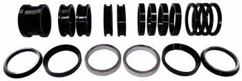 Triple X Race Components - Triple X Various Widths Axle Spacer Kit Aluminum Black Anodize Triple X Sprint Car Axles - Kit