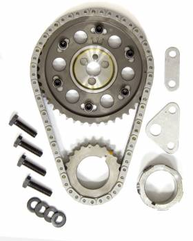 Rollmaster - ROLLMASTER-ROMAC Gold Series Timing Chain Set Double Roller Keyway Adjustable Needle Bearing - Billet Steel