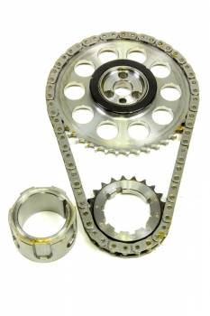 Rollmaster - ROLLMASTER-ROMAC Red Series Timing Chain Set Single Roller Keyway Adjustable Needle Bearing - Billet Steel