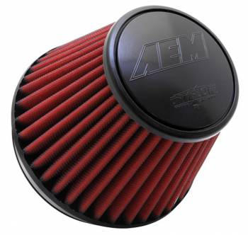 """AEM Induction Systems - AEM Induction Systems Dryflow Air Filter Element Clamp-On Conical 7-1/2"""" Base - 5-1/8"""" Top Diameter - 5"""" Tall"""