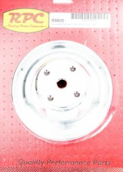 """Racing Power - Racing Power V-Belt Water Pump Pulley 2 Groove 6.600"""" Diameter Steel - Chrome"""