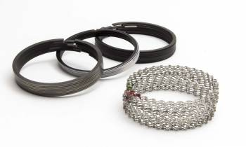 """Speed Pro - Speed Pro Premium Piston Rings 4.380"""" Bore 5/64 x 5/64 x 3/16"""" Thick Standard Tension - Moly"""