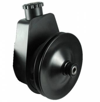 Borgeson - Borgeson Saginaw Power Steering Pump Bracket/V-Belt Pulley Steel Black Powder Coat - Small Block Chevy