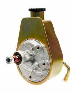Racing Power - Racing Power Saginaw Power Steering Pump Bolt-On Pulley Steel Zinc Oxide - Each