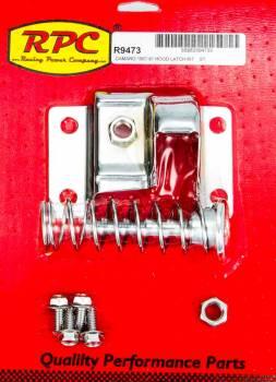 Racing Power - Racing Power Mounting Hardware Included Hood Latch Kit Steel Chrome Chevy Camaro 1967-81 - Kit