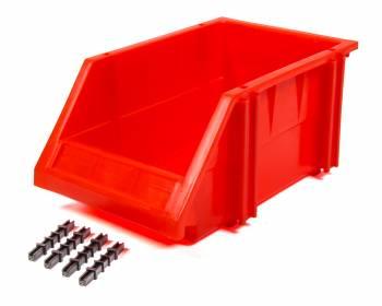 "Triple X Race Components - Triple X Race Co. 10.25 x 6.25 x 4.75"" Storage Bin Plastic - Red"