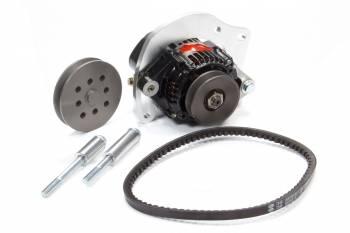Powermaster Motorsports - Powermaster Motorsports High Mount Kit Alternator Kit Passenger Side Water Pump Mount 55 amp Alternator/Belt/Bracket/Pulleys GM V8 - Kit