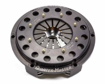 "Quarter Master - Quarter Master V-Drive Rally Clutch Kit Dual Disc 7-1/4"" Diameter 1-5/32"" x 26 Spline - Rigid Hub"
