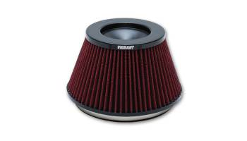 "Vibrant Performance - Vibrant Performance Classic Air Filter Element Clamp-On Conical 6-1/2"" Base - 5"" Top Diameter - 4-1/4"" Tall"