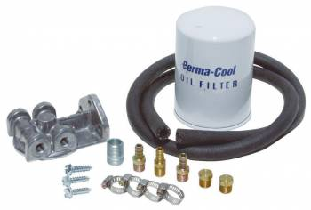 Perma-Cool - Perma-Cool Deluxe System Remote Transmission Filter Kit Fittings/Filter/Filter Mount/Hardware/Hose - Universal