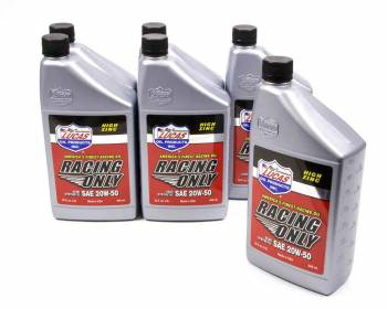 Lucas Oil Products - Lucas Oil Products Racing Motor Oil 20W50 Semi-Synthetic 1 qt - Set of 6