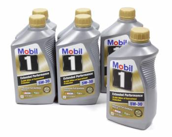 Mobil 1 - Mobil 1 Extended Performance Motor Oil 5W30 Synthetic 1 qt - Set of 6