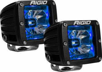 "Rigid Industries - Rigid Industries Radiance LED Light Assy Flood 15 Watts 2-15/16 x 3-3/16"" Rect - Surface - Blue Backlight"