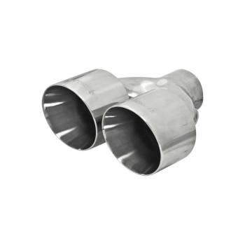 """Flowmaster - Flowmaster Weld-On Exhaust Tip 2-1/2"""" Inlet Dual 4"""" Outlet 14"""" Long - Single Wall"""