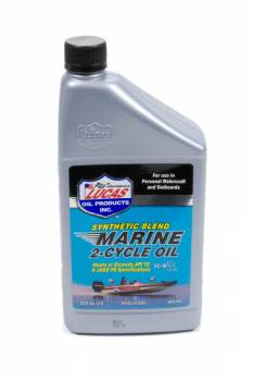 Lucas Oil Products - Lucas Oil Products TC-W3 Motor Oil Semi-Synthetic 1 qt Marine - Each