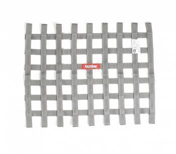 """RaceQuip - RaceQuip SFI-27.1 Window Net 1"""" Webbing 18 x 24"""" Rectangle Platinum - Each"""