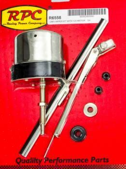 "Racing Power - Racing Power 1 Speed Windshield Wiper Kit Arm/Blade/Hardware/Motor 110 Degree Swing 11"" Arm - 10"" Blade"