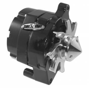 Tuff Stuff Performance - Tuff Stuff Performance 100 amp Alternator 12V Internal Regulator Single V-Belt Pulley - Black Powder Coat