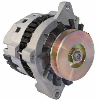 CVR Performance Products - CVR Performance Products Delco Race Alternator 100 amp 12V 1-Wire - Single V-Belt Pulley