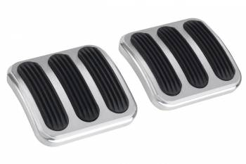 Lokar - Lokar Brake/Clutch Pedal Pad Rubber Pads Billet Aluminum Brushed - Various Jeep 1946-2010