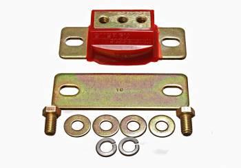 "Energy Suspension - Energy Suspension Hyper-Flex Transmission Mount Interlocking 3.75 to 4.25"" Transmission Bolt Span Steel/Polyurethane - Zinc Oxide/Red"
