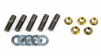 "Weld Racing - Weld Racing 3/8-16-"" Base Thread Brake Rotor Stud 3/8-24"" Top Thread 1.340"" Long Nuts/Washers Included - Steel"