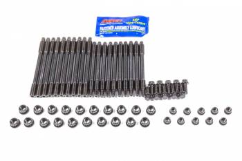 ARP - ARP Hex Nuts Main Stud Kit 4-Bolt Mains Chromoly Black Oxide - Aftermarket Block