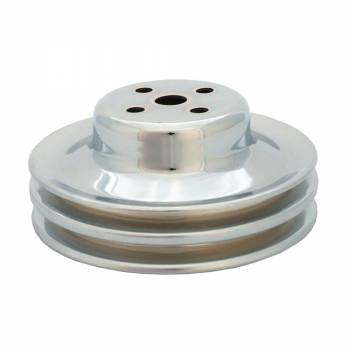 "Spectre Performance - Spectre Performance V-Belt Water Pump Pulley 2 Groove 5-7/8"" Diameter Steel - Chrome"
