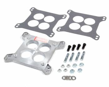 "Trans-Dapt Performance - Trans-Dapt Performance 1/2"" Thick Carburetor Adapter 4 Hole Rochester 4 Barrel to Square Bore Gasket/Hardware - Aluminum"