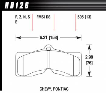 Hawk Performance - Hawk Performance Luxury and Touring Compound Brake Pads Wide Temperature Range GM F-Body/Chevy Corvette - Set of 4