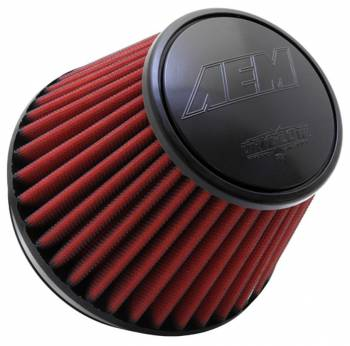 "AEM Induction Systems - AEM Induction Systems Dryflow Air Filter Element Clamp-On 6"" Diameter 6"" Tall - 5-1/8"" Flange"