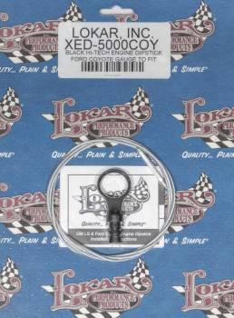 Lokar - Lokar Braided Stainless Engine Oil Dipstick Aluminum Black Anodize Ford Coyote - Each