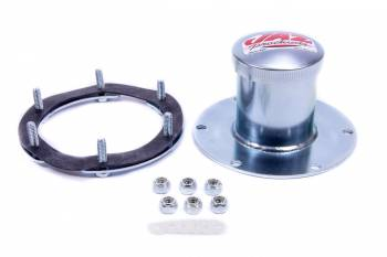 Jaz Products - Jaz Products Dragster Fuel Cell Filler Plate Vented Twist Lock Cap Flat Mount Straight Neck - 6-Bolt Flange