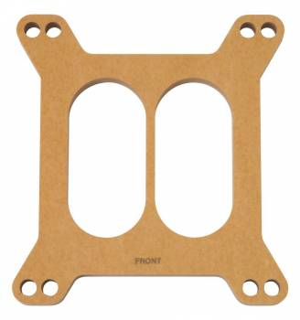"Edelbrock - Edelbrock 1/2"" Thick Carburetor Spacer Divided Wall Square Bore Wood - Natural"
