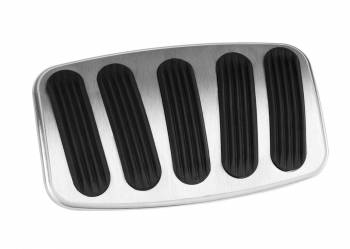 Lokar - Lokar XL Curved Pedal Pad Brake Billet Aluminum Brushed - Manual Brakes