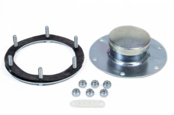 "Jaz Products - Jaz Products Dragster Fuel Cell Filler Plate Vented Twist Lock Cap Flat Mount Straight Neck - 6-Bolt Flange - 1-3/4"" Long"