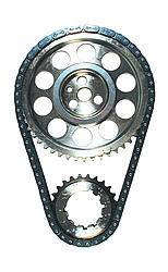 JP Performance - JP Performance Double Roller Timing Chain Set Keyway Adjustable Billet Steel Pontiac V8 - Kit