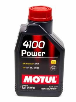 Motul - Motul 4100 Power Motor Oil 15W50 Synthetic 1 L - Each