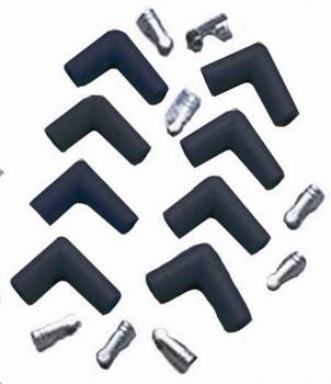 Taylor Cable Products - Taylor Cable Products Spark Plug Boot/Terminal Kit 8 mm Black 90 Degree - Set of 8