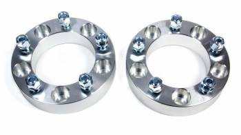 """Rough Country - Rough Country 5 x 5.50"""" Bolt Pattern Wheel Spacer 1-1/2"""" Thick Aluminum Natural - Pair"""