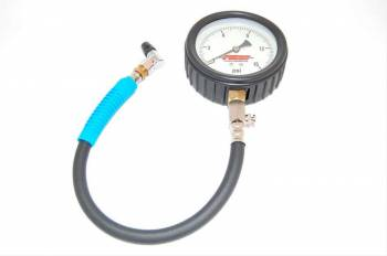 """AED Performance - AED Performance Pro Series Tire Pressure Gauge 0-15 psi Analog 4"""" Diameter - White Face"""